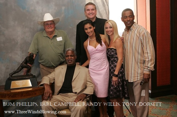 Randy Willis Earl Campbell, Tony Dorsett, Bum Phillips