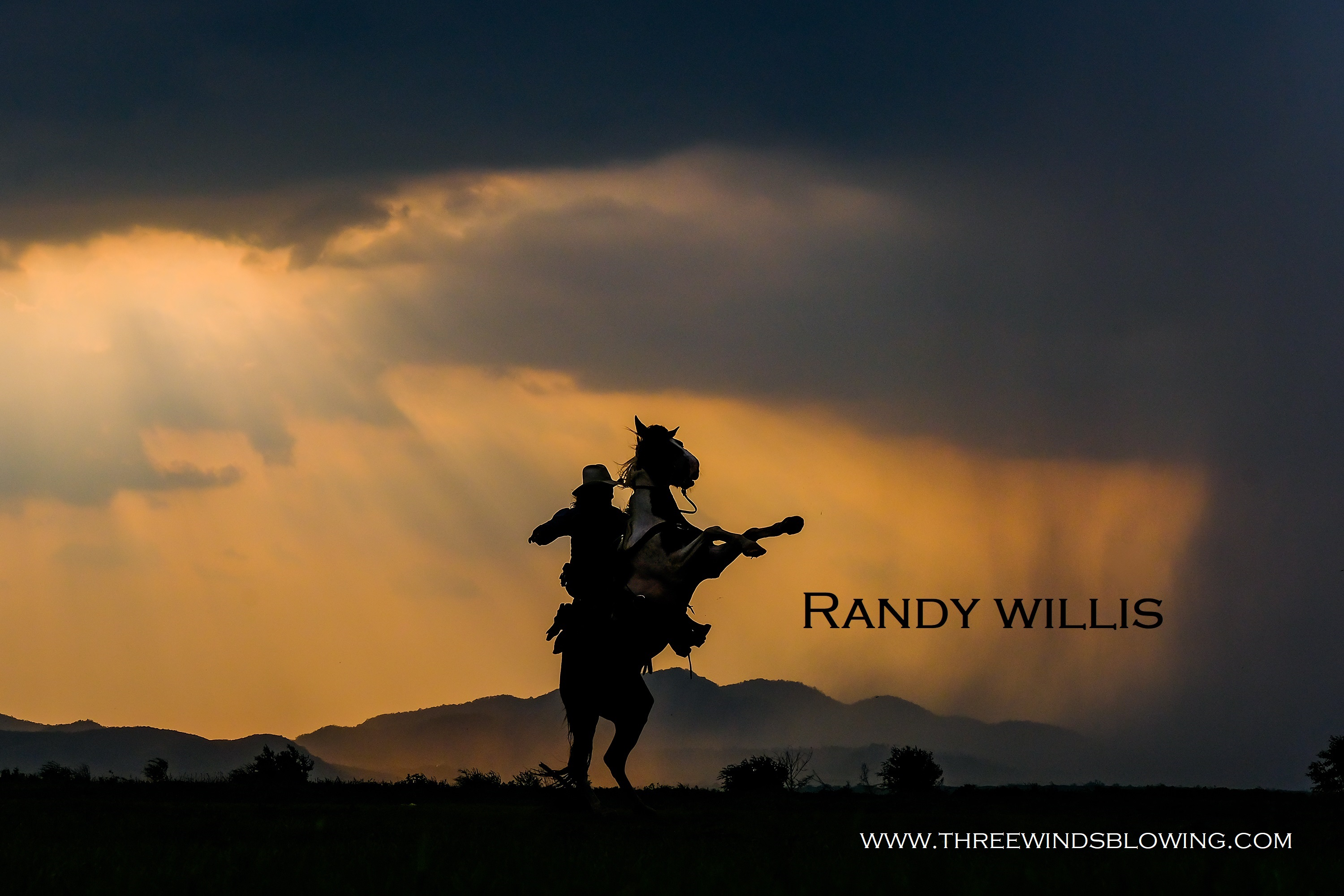 A man in a cowboy outfit with his horse