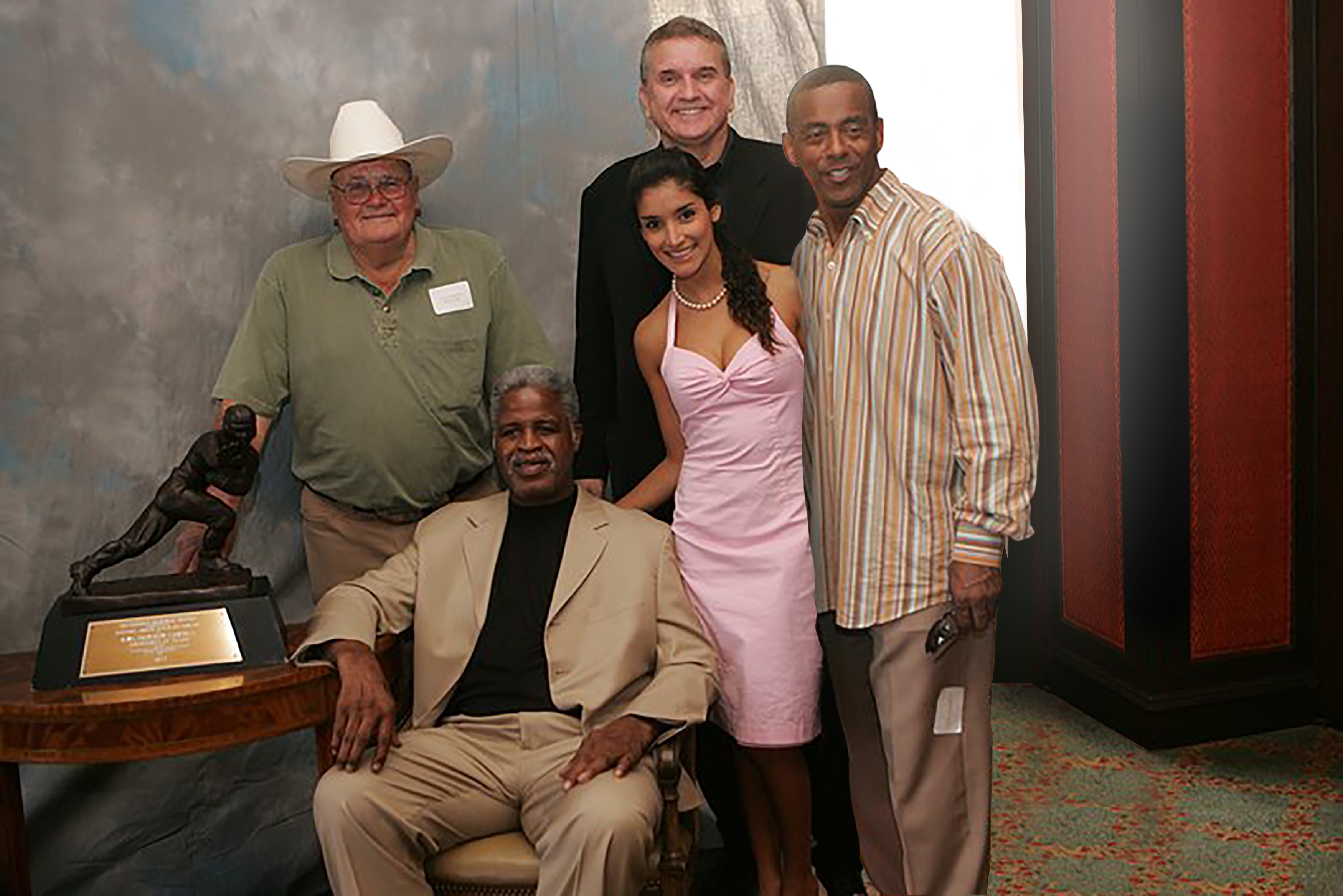 Bum Phillips, Earl Cambell, Randy Willis and Tony Dorsett