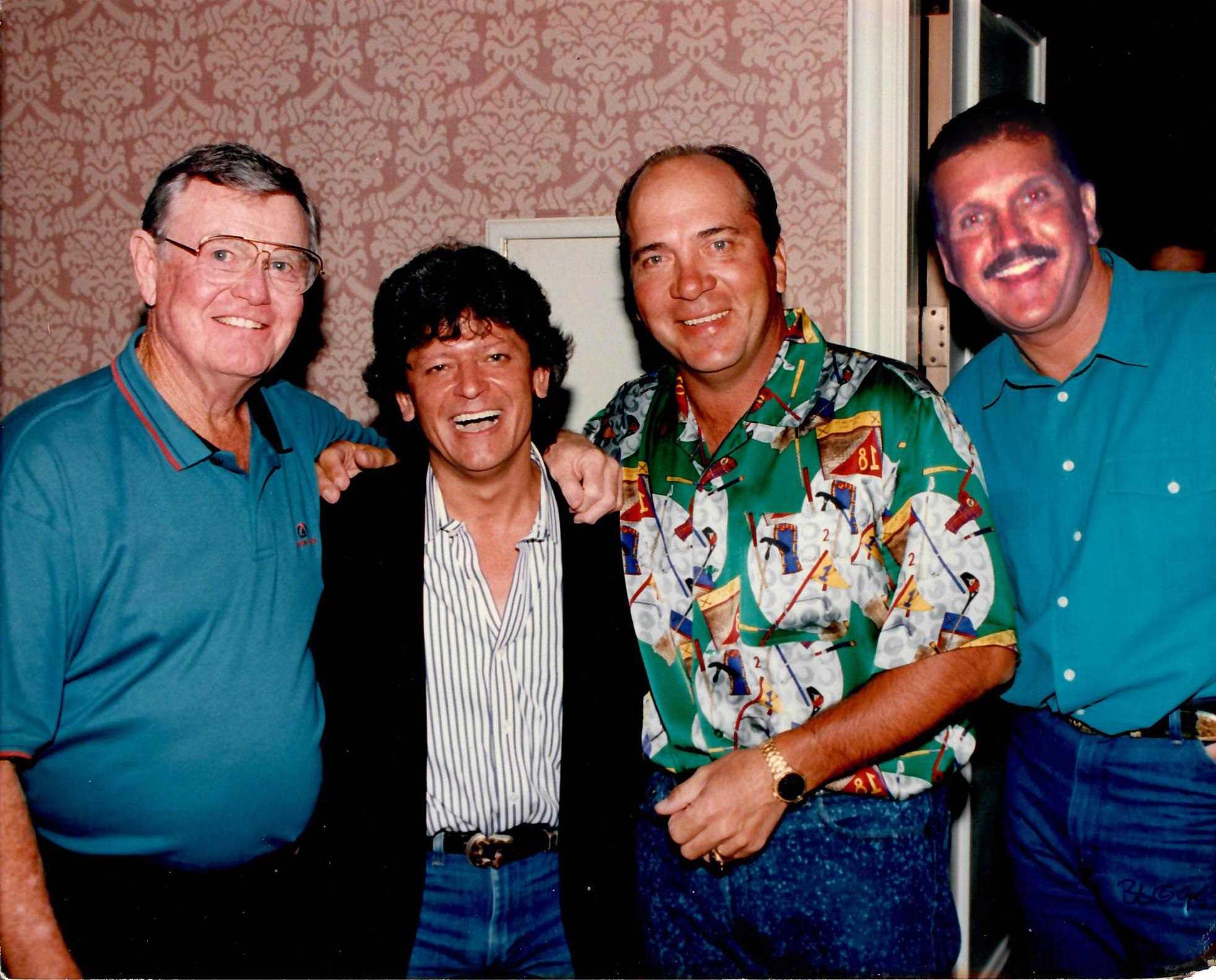 Darrell Royal, Johnny Rodriguez, Johnny Bench and Randy Willis